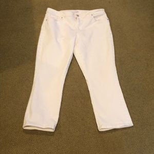 Loft white jean capris